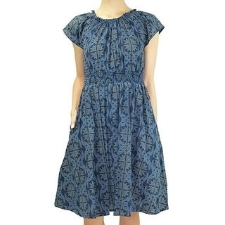 Relished Women's Contemporary Blue Belle Twirl Dress