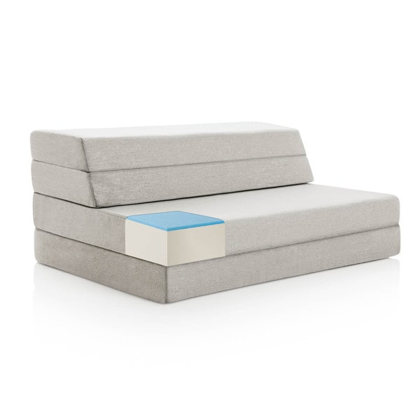 LUCID 4-inch Folding Mattress and Sofa with Removable Cover