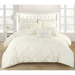 Gracewood Hollow Charlene Pleated 10-piece Bed in a Bag Set