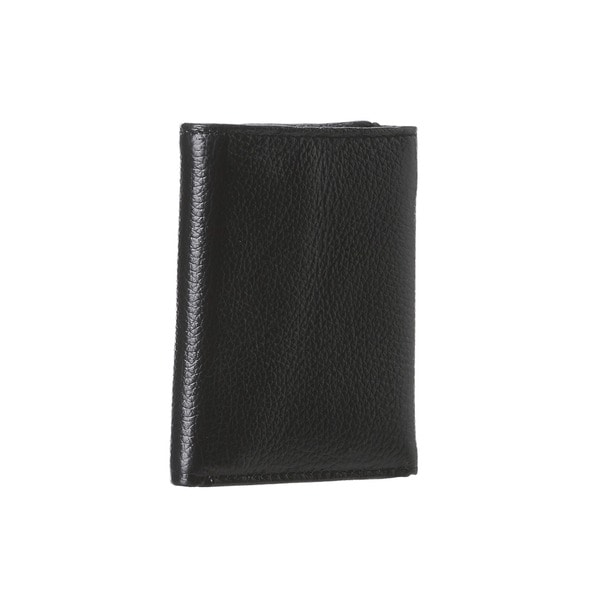 Calvin Klein Men's Black Leather Trifold Wallet 16793712
