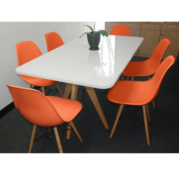 White Twin Tower 7-Piece Dining Set