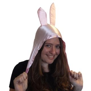 Louise Bunny Ears Hat Bob's Burgers Belcher Cartoon Rabbit Pink Hood Costume