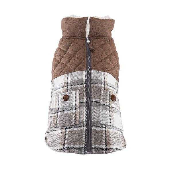 Friends Forever Archie Tweed Plaid Pet Harness And Coat Set