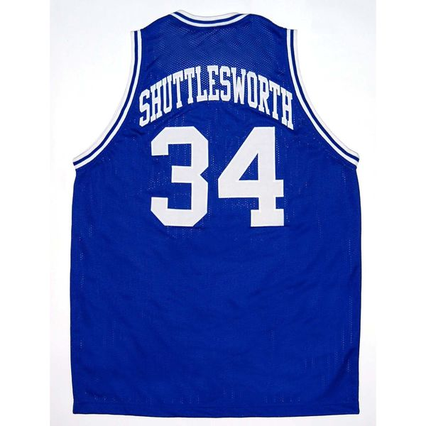 Jesus Shuttlesworth 34 Lincoln Ray Allen High School Blue Basketball Jersey 16793885