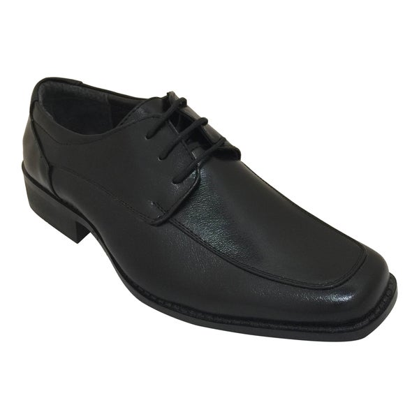 Men's Black Lace Up Oxford Dress Shoe