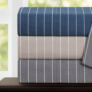 Echelon Home Pinstripe 300 Thread Count Cotton Pillowcases (Set of 2)