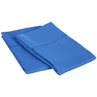 Cotton Blend 600 Thread Count Hem Stitch Pillowcases (Set of 2)