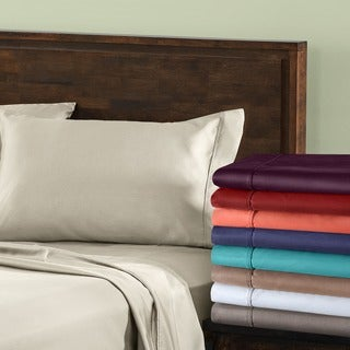 Cotton Blend 800 Thread Count Wrinkle-resistant Pillowcases (Set of 2)