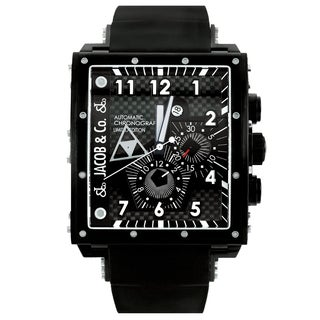 Jacob & Co. Epic I Steel V.2Q2 Black Square Case Watch
