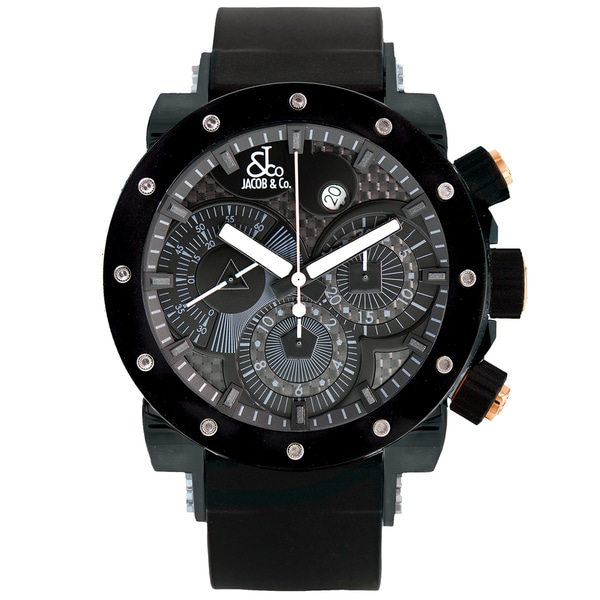 Jacob and Company Epic II Unisex E2CBR Black Limited Edition Watch with Rose Gold Accents