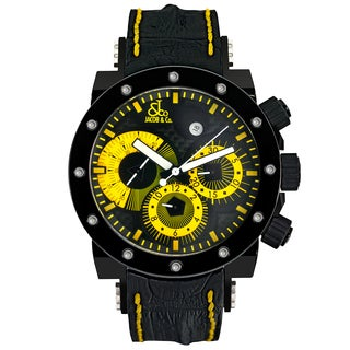 Jacob & Co. Epic II Limited Edition E14 Yellow Unisex Carbon Fiber Automatic Watch With Gemstone Dial