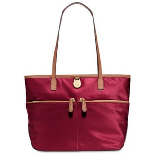 Michael Kors Kempton Medium Cherry Pocket Nylon Tote Handbag
