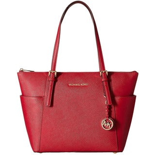 MICHAEL Michael Kors Jet Set Saffiano Cherry Top Zip Tote