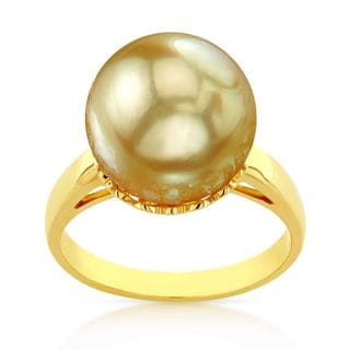 Radiance Pearl 14k Gold Golden South Sea Pearl Ring