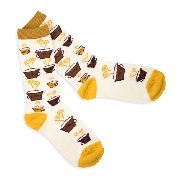 TeeHee Coffee Mug Fashionable Cotton Crew Socks