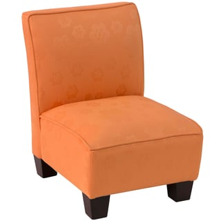 Skyline Furniture Flower Pad Orange Kids Slipper Chair