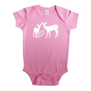 Rocket Bug Little Sister Deer Baby Bodysuit