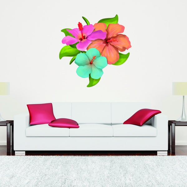 Hibiscus Flower Floral Wall Decal