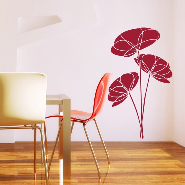 Poppy Flower Floral Wall Decal