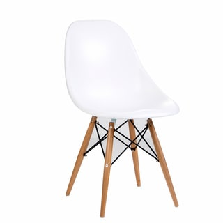 Citytalk ABS Dining Chairs with Steamed Birch Wood Legs (Set of 2)