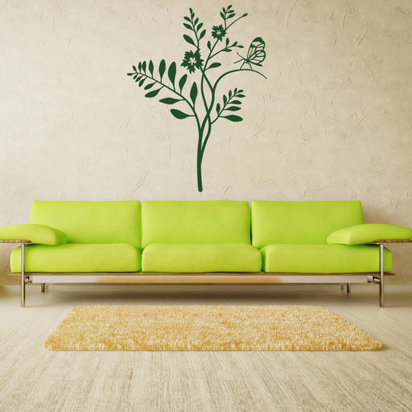 Butterfly Tree Floral Wall Decal