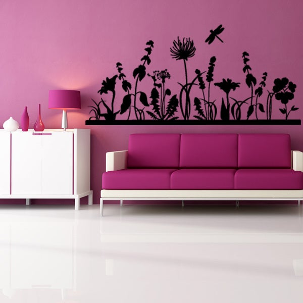 Autumn Garden Floral Wall Decal