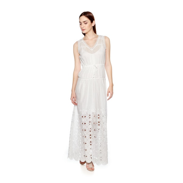 Cynthia Vincent V Neck Maxi Dress