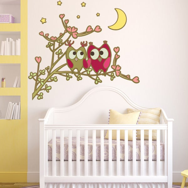 Owl Friends Wall Decal