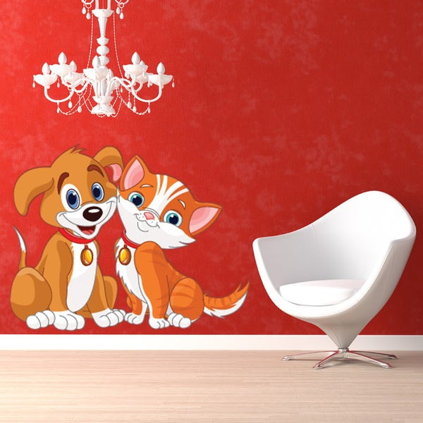 Dog and Cat Wall Decal