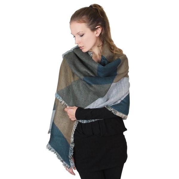 Multicolor Blanket Scarf