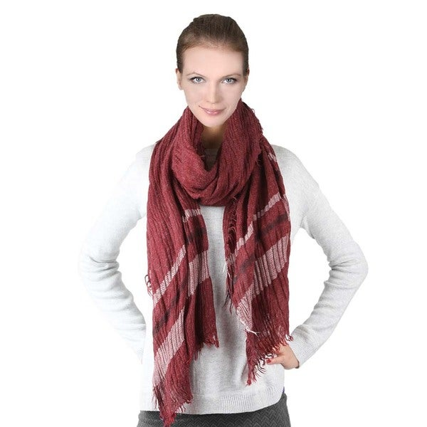 Unisex Striped Design Scarf