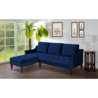 Emily Estate Blue Right/ Left Facing Sectional Sofa
