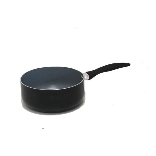 Gourmet Chef 1.75 Quarts Eco-friendly Non-stick Ceramic Sauce Pan with Glass Lid