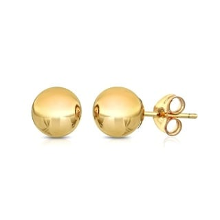 Pori 14k Gold Ball Stud Earrings (3-pairs)