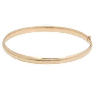 Pori 14k Gold 5mm Plain Bangle