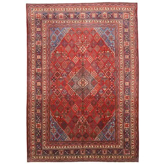 EORC Hand Knotted Wool Red Mei-Mei Rug (9'9 x 13'10)