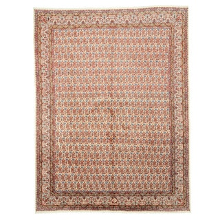 EORC X33038 Ivory Hand-knotted Wool Paisley Mood Area Rug (8'6 x 11'10)
