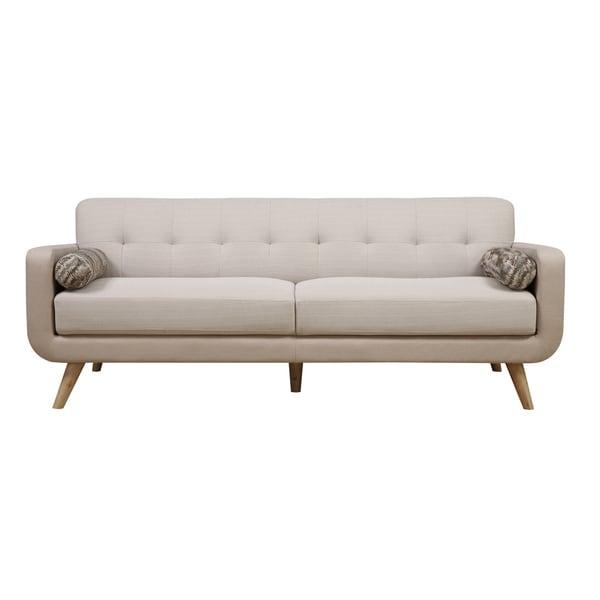 Beige Mid-Century Modern Sofa
