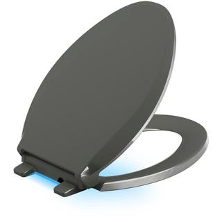 Kohler Cachet LED Nightlight Elongated Closed Front Toilet Seat in Thunder Grey