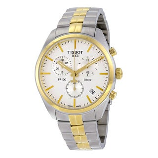 Tissot Men's T1014172203100 'PR 100' Chronograph Two-Tone Stainless Steel Watch