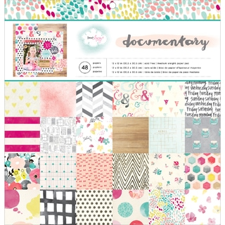 "American Crafts Paper Pad 12""X12"" 48/Pkg-Dear Lizzy Documentary"