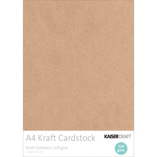 Kaisercraft 220gsm Cardstock A4 20/Pkg-Kraft