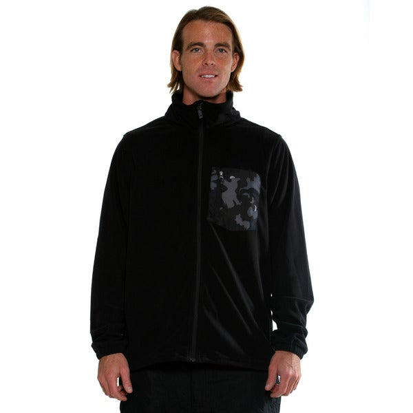 Billabong Men's Black Cater zip up fleece