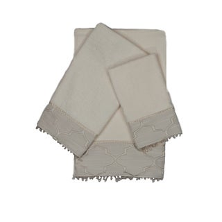 Austin Horn En'Vogue Stanton Beads Ecru 3-piece Decorative Embellished Towel Set