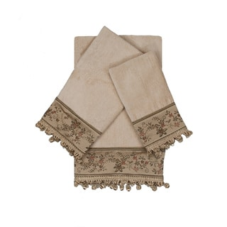 Austin Horn Classics Rosemead Taupe 3-piece Decorative Embellished Towel Set