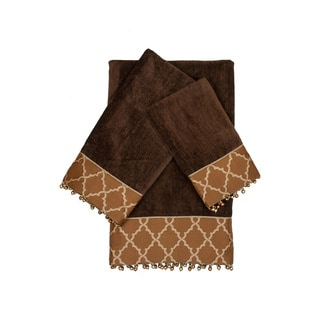 Austin Horn Classics Somerset Brown 3-piece Decorative Embellished Towel Set