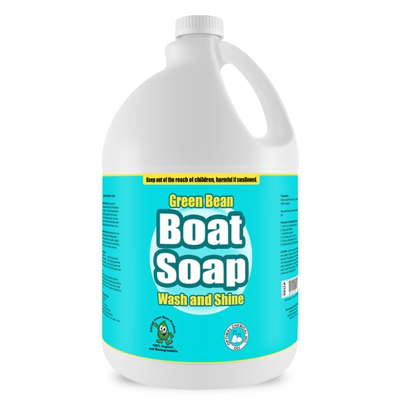 Boat Soap and Wax - Non Toxic Water Spot Free Boat Wash For Fiberglass, Vinyl, Metal & Painted Surfaces, 1 Gallon
