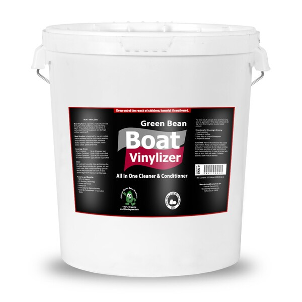 Boat Vinylizer Streak Free Vinyl Cleaner - Non Toxic Marine Vinyl Cleaner and Protectant, 5 Gallon