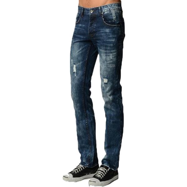 Dinamit Men's Five Pocket Classic Distressed Jeans