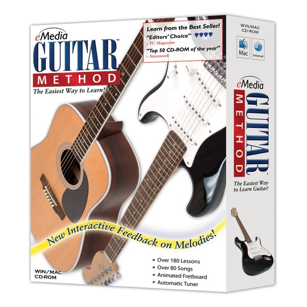 eMedia Guitar Method and EarMaster Bundle with Bonus PitchBoy Tuner
